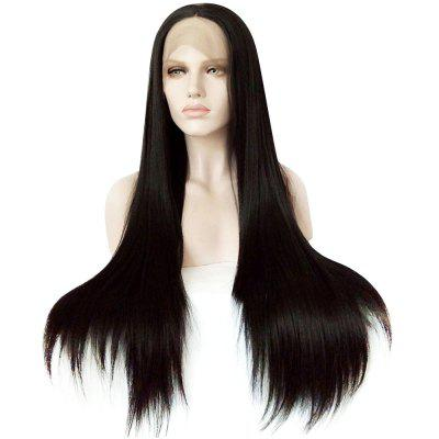 Full Lace Front Natural Straight Black Wigs