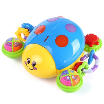 Kids Colorful Ladybird Shape Musical Learning Toy