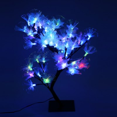 2W LED Colorful Desk Top Fiber Optic Blossom Tree Light