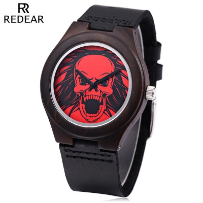 REDEAR Women Wooden Quartz Wristwatch