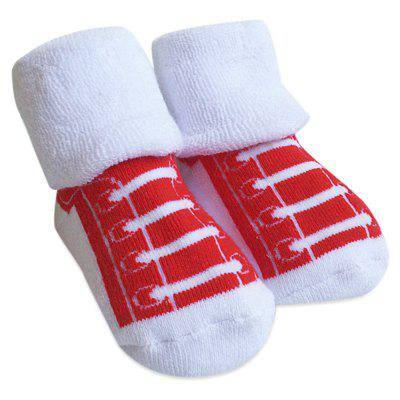 Thickening Newborn Baby Infant Print Towel Socks
