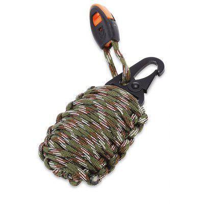 Buy ARMY GREEN CAMOUFLAGE Paracord Survival Grenade Keychain with Carabiner for $3.98 in GearBest store