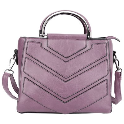 Guapabien Trendy PU Leather Zipper Type Pure Color Women Bag