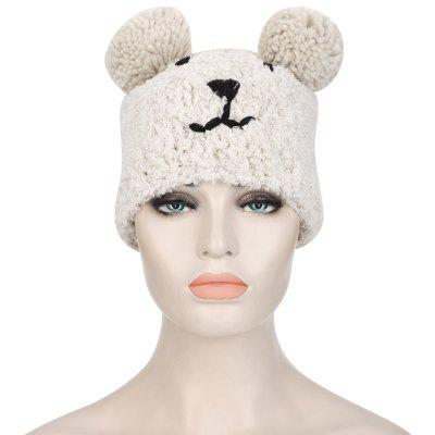 Bear Design Venonat Girls Warm Knitted Hat