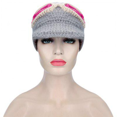 Sunglasses Decoration Girls Warm Knitted Hat