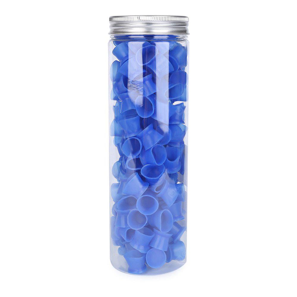 130pcs / Box Blue Color Silicone Tattoo Ink Cups