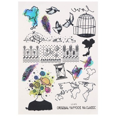Temporary Colorful Harajuku Magic Sky Anime Tattoo Stickers