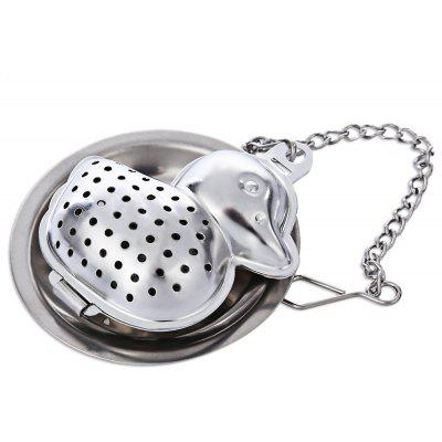 Buy SILVER Stainless Steel Duck Shape Mesh Tea Infuser Strainer for $1.45 in GearBest store