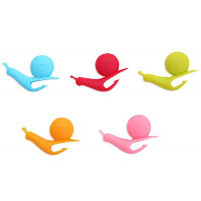 5pcs Colorful Silicone Snail Shape Cup Label Teabag Hanging Clip