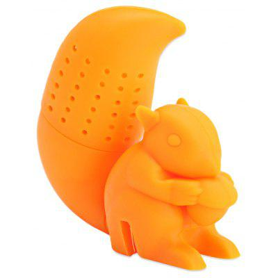 Lovely Novelty Silicone Squirrel Shape Tea Strainer