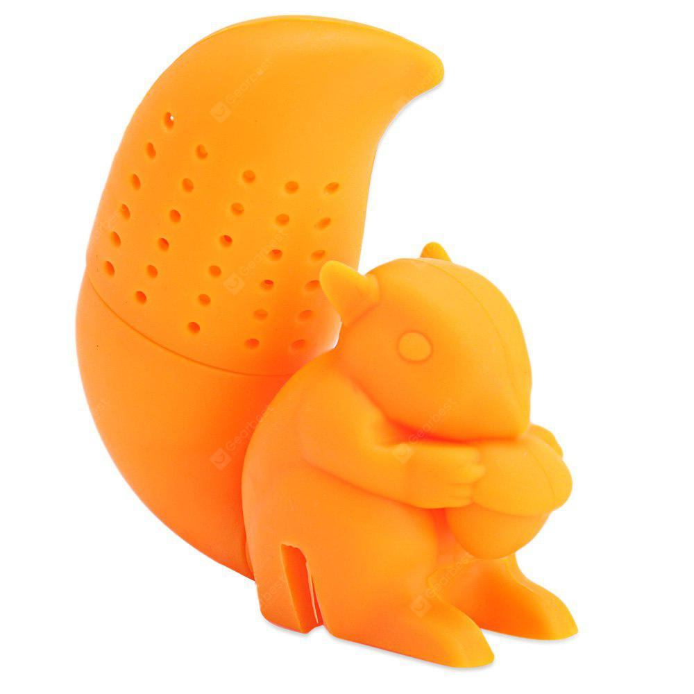 Cute Novelty Silicone Squirrel Shape Mesh Tea Filter
