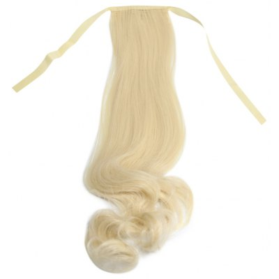 Simulated Strap Type Wig Ponytail Loose Wavy Pear Volume Half Hair
