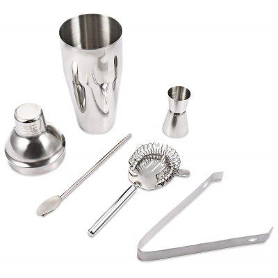 5pcs 750ml Professional Stainless Steel Cocktail Maker