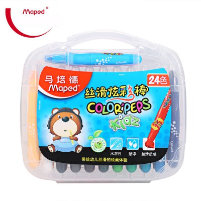 Maped Melted Water Crayon with 24 Colors