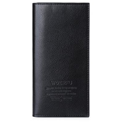 Lichee Pattern Letter Open Soft Vertical Long Wallet