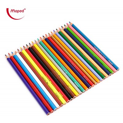 Maped 24 Colors Triangle Rod Colored Pencil