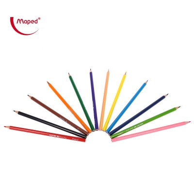 Maped 12 Colors Triangle Rod Colored Pencil