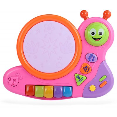 HangLei Kids Musical Snail Shape Play Piano with Light