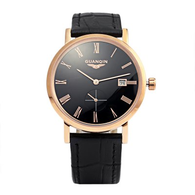 GUANQIN GJ16028 Men Auto Mechanical WatchMens Watches<br>GUANQIN GJ16028 Men Auto Mechanical Watch<br><br>Band Length: 8.18 inch<br>Band Material Type: Genuine Leather<br>Band Width: 18mm<br>Case material: Stainless Steel<br>Case Shape: Round<br>Clasp type: Pin Buckle<br>Dial Diameter: 1.59 inch<br>Dial Display: Analog<br>Dial Window Material Type: Hardlex<br>Feature: Date<br>Gender: Men<br>Movement: Automatic Self-Wind<br>Package Contents: 1 x Watch<br>Package Size(L x W x H): 7.50 x 10.50 x 7.00 cm / 2.95 x 4.13 x 2.76 inches<br>Package weight: 0.180 kg<br>Product Size(L x W x H): 25.00 x 4.20 x 1.00 cm / 9.84 x 1.65 x 0.39 inches<br>Product weight: 0.050 kg<br>Water Resistance Depth: 30m