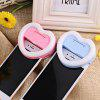 Selfie Heart-shaped Flash Light with Small Mirror - BLUE