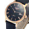 GUANQIN GJ16028 Men Auto Mechanical Watch - BLACK AND GOLDEN