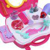 21pcs Baby Kids Mini Simulation Makeup Tools Box - ROSE RED