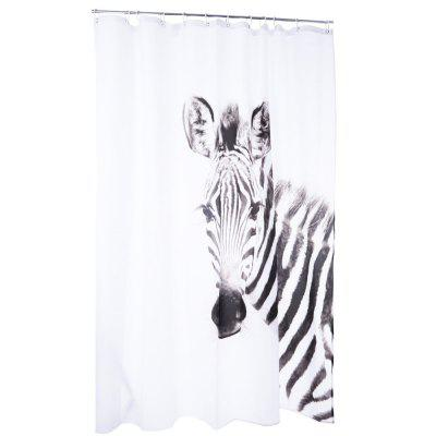 3D Zebra Pattern Water-resistant Shower Curtain