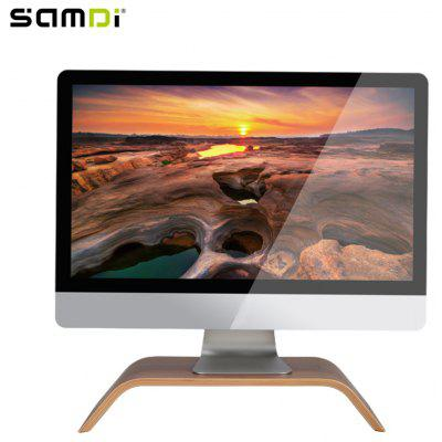 SAMDI Wood Laptop Holder Wooden Notebook Stand Desk