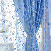 100 x 200cm Circle Printed Door Window Screen Curtain - BLUE