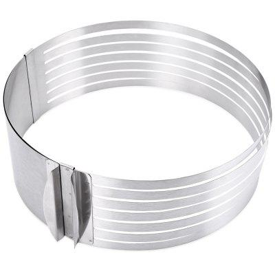 Retractable Stainless Steel Circle Cake Slicer MoldOther Cooking Tools<br>Retractable Stainless Steel Circle Cake Slicer Mold<br><br>Dessert Tools Type: Cake Slicer Mold<br>Feature: Eco-friendly<br>Material: Stainless Steel<br>Package Contents: 1 x Cake Ring<br>Package Size(L x W x H): 30.00 x 22.50 x 9.00 cm / 11.81 x 8.86 x 3.54 inches<br>Package weight: 0.2770 kg<br>Product weight: 0.2050 kg
