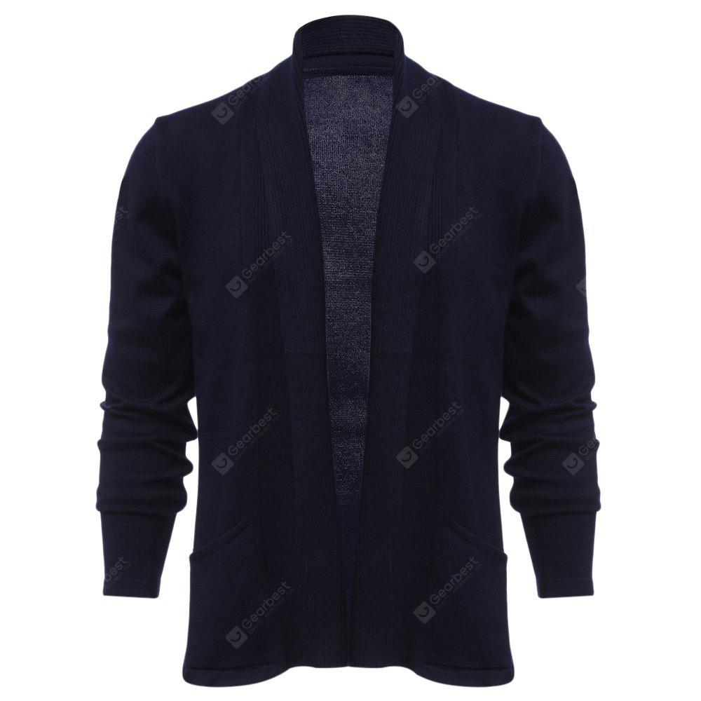 Solid Color Male Long Sleeve Knitwear