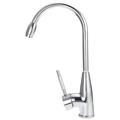 Buy SILVER 360 Degree Single Hole Water Kitchen Faucet for $13.38 in GearBest store