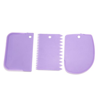 3 in 1 DIY Cake Fondant Smoother Scraper Baking ToolsBaking &amp; Pastry Tools<br>3 in 1 DIY Cake Fondant Smoother Scraper Baking Tools<br><br>Package Contents: 3 x Baking Tool<br>Package Size(L x W x H): 13.00 x 9.60 x 1.30 cm / 5.12 x 3.78 x 0.51 inches<br>Package weight: 0.047 kg<br>Product Size(L x W x H): 12.00 x 8.60 x 0.30 cm / 4.72 x 3.39 x 0.12 inches<br>Product weight: 0.025 kg