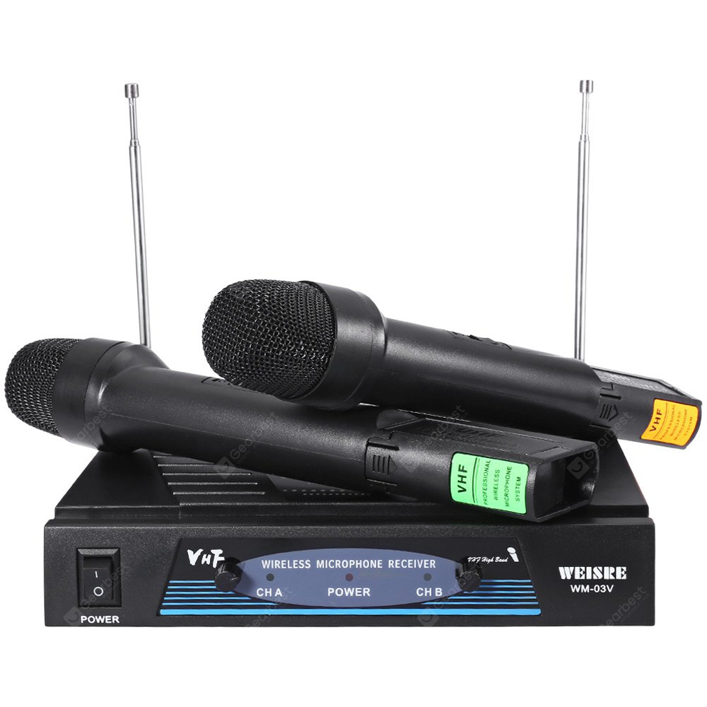 WEISRE WM - 03V Dual Channel Transmitter Microphone Set