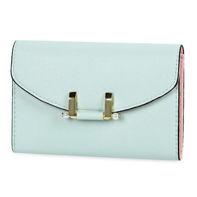 Lady Simple Geometric Mini Short Clutch Wallet Card Holder