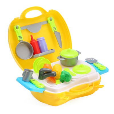 26pcs Kids Mini Simulation Kitchen Cooking Tools Box