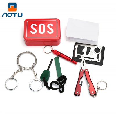 Aotu AT9016 Outdoor Emergency Multifunctional Tools Kit