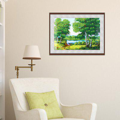 30 x 40cm 5D Green Woods Landscape Painting Cross Stitch Tool