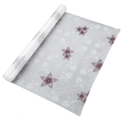 Removable Window Film Cover - Purple Flower Pattern