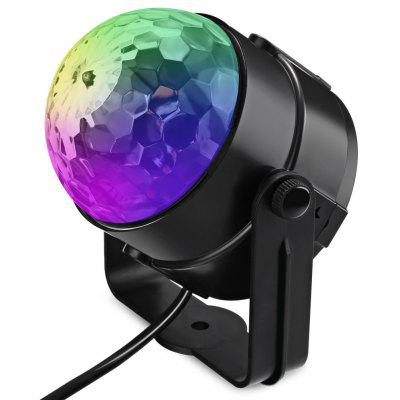 LED Stage Light Transparent Rotating Ball RGB Lamp