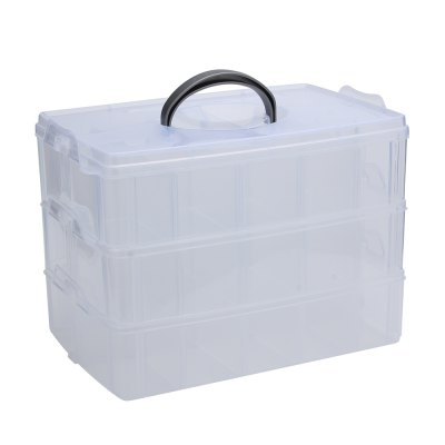 Big Sized Three Layers Removable Plastic Storage Box