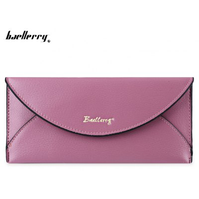 Baellerry  Candy Color Snap Fastener Cell Phone Envelope Clutch Wallet