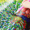 Strumento Cross Stitch 40x40cm 5D Peacock Spreading Tail Painting - COLORI MISTI