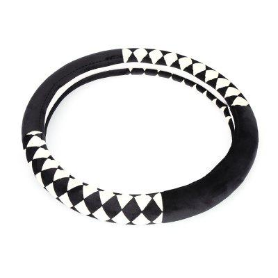 Rhombus Design Warm Car Steering Wheel Cover