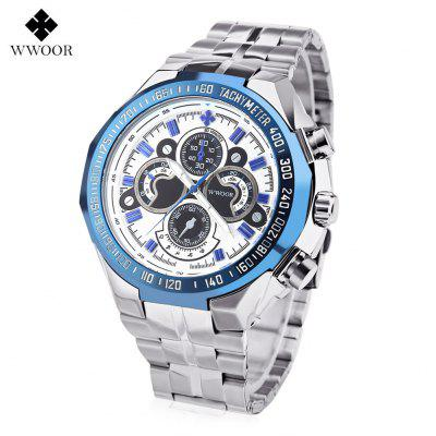 WWOOR 8013 Men Quartz Watch