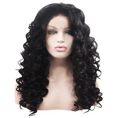 Long Deep Curly Synthetic Ladies Lace Front Wigs