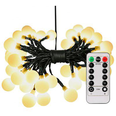 50-LED Battery Operated Light String for Christmas