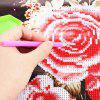 best 35 x 35cm Rose Flower Painting Cross Stitch Tool