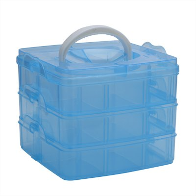 Three Layers Removable Plastic Storage Box