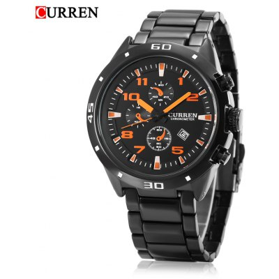 Buy CURREN 8021 Men Quartz Watch, BLACK AND ORANGE, Watches & Jewelry, Men's Watches for $20.71 in GearBest store